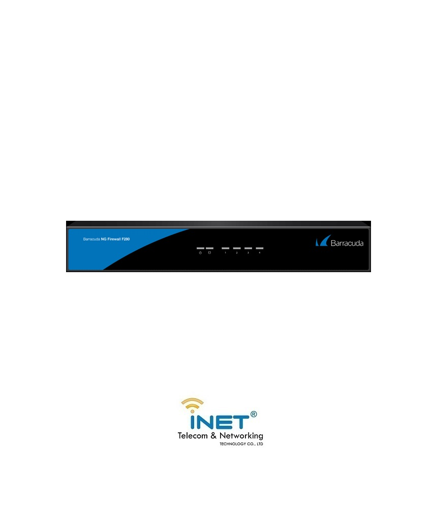 Barracuda NextGen Firewall F280