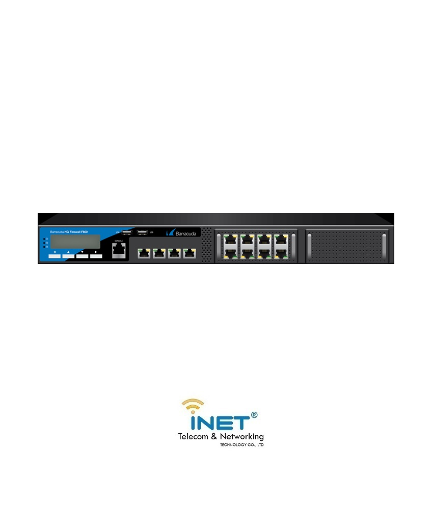 Barracuda NextGen Firewall F800